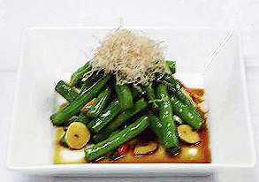 フーロー豆のスタミナ漬けの写真