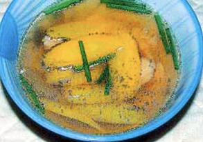 チムシンジ(豚レバーの汁物)の写真