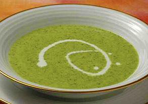 からし菜のクリームスープの写真