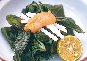 カンダバーの酢味噌和えの写真