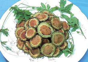 ゴーラのヘルシー肉詰め揚げの写真
