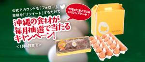 美ら卵養鶏場の「たまご20個とパウンドケーキセット」当選者発表!