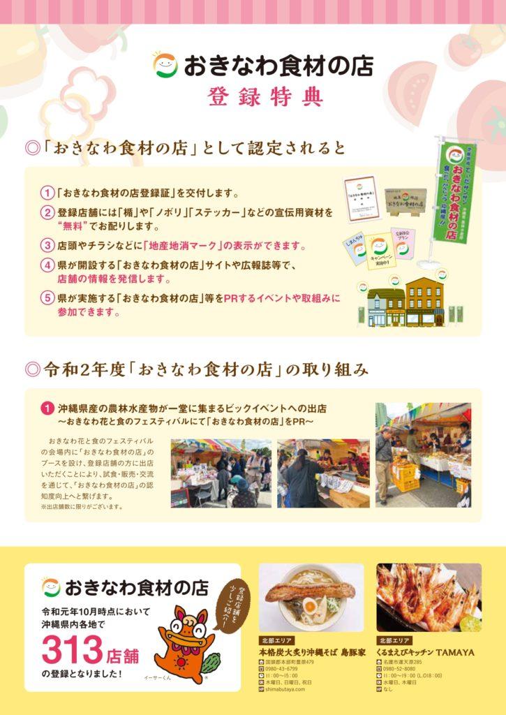 (おきなわ食材の店)登録ガイド2