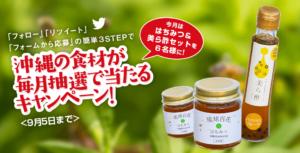 「はちみつ&美ら酢セット」当選者発表!