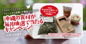 わんさか大浦パークギフトセット(二見あかカラシナ加工品・月桃茶・サブレ・イカ味噌・シークヮーサージャム)当選者発表!